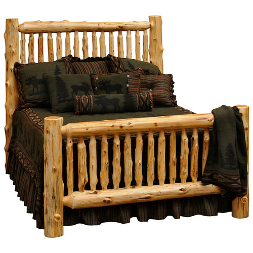 Spindle Log Bed - Queen