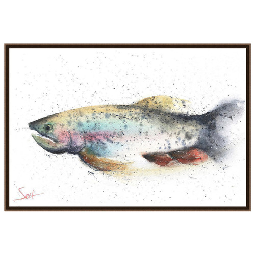 Rainbow Trout River Wall Art