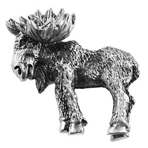Realistic Moose Cabinet Knob - Left Facing