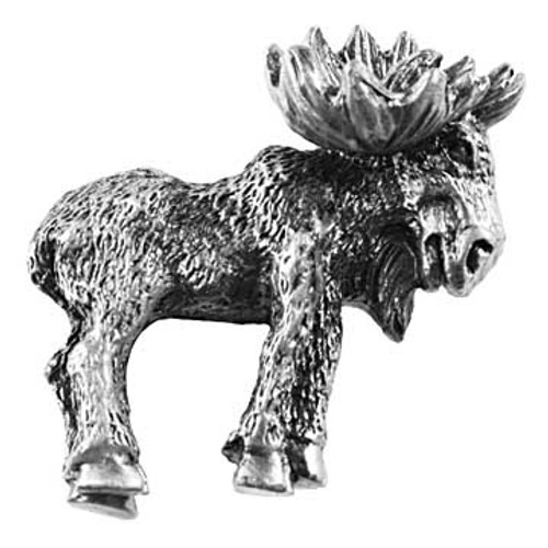 Realistic Moose Cabinet Knob - Right Facing