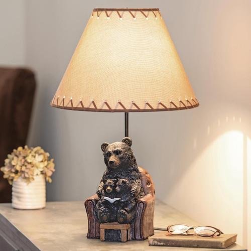 Reading Bear Cubs Table Lamp