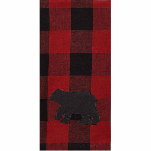 Red Buffalo Check Bear Decorative Dishtowels - Set of 6