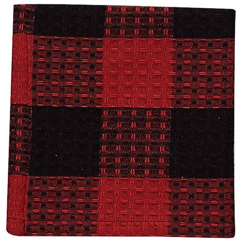 Red Buffalo Check Dishcloths - Set of 6