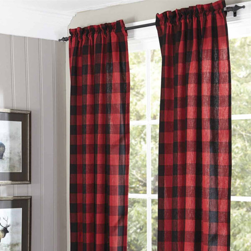 Red Buffalo Check Lined Panel Pairs