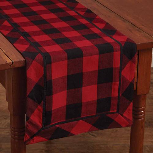 Red Buffalo Check Table Runner