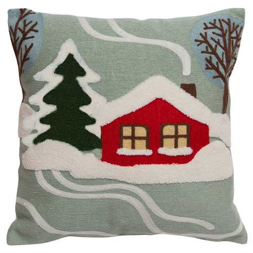 Red Cabin Pillow