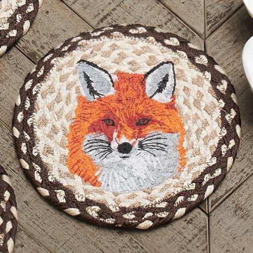 Red Fox Jute Trivet - BACKORDERED UNTIL 10/1/2021
