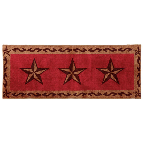 Red Star Bath Runner