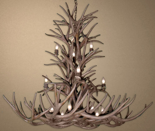 Reproduction Whitetail and Mule Deer Antler Chandelier - Large