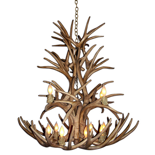 Reproduction Whitetail and Mule Deer Antler Chandelier - Small