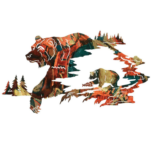 Bear Canyon Metal Wall Art