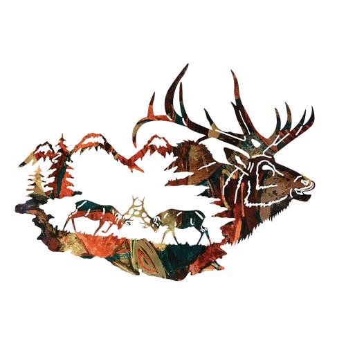 Reflections of the Wilderness Elk Wall Art - OVERSTOCK