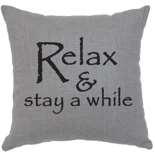Relax Gray Linen Pillow
