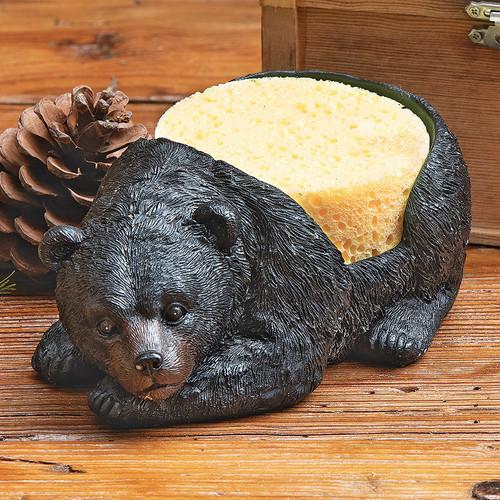 Resting Bear Kitchen Sponge Holder