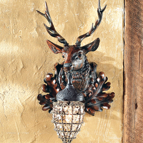 Right Facing Stag Wall Sconce