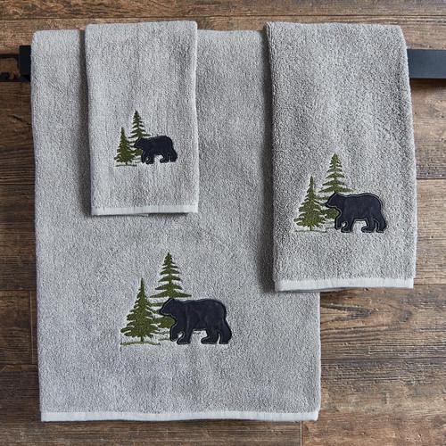 Bear & Pine Tree Towel Collection