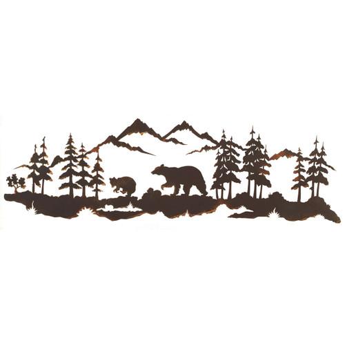 Bear Family Metal Wall Art