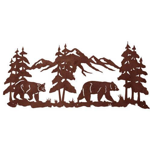 Bears Metal Wall Art