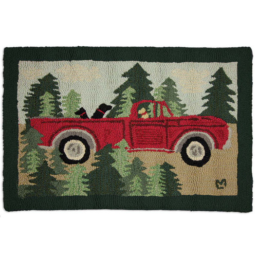 Road Trip Hooked Wool Accent Rug