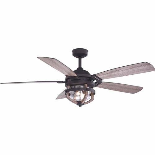 Rustic Oak Ceiling Fan