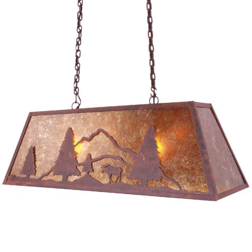 Rock Springs Moose Swag Light - Rust
