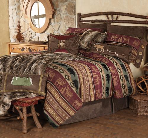 Rocky Ridge Moose & Bear Bed Set - Queen