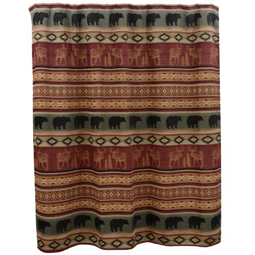 Rocky Ridge Moose & Bear Shower Curtain