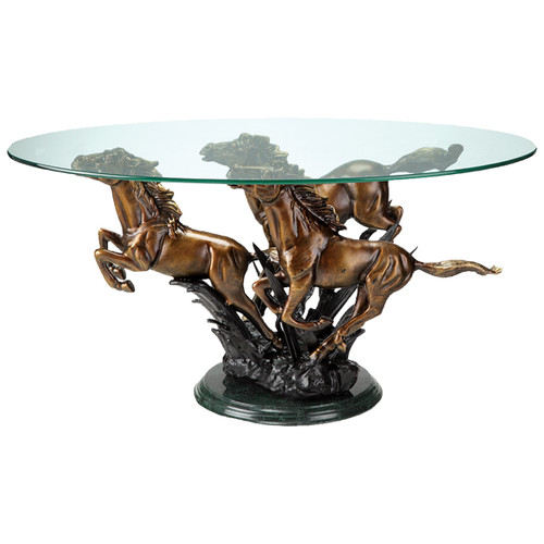 Running Horses End Table