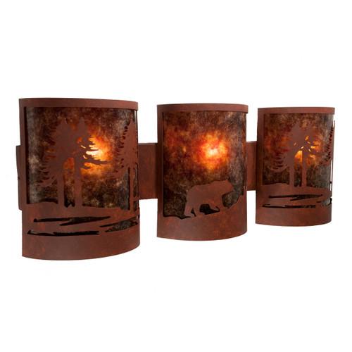 Alpine Bear Vanity Light - Rust - Amber Mica
