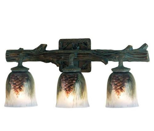 Pinecone Branch Vanity Light - 3 Light