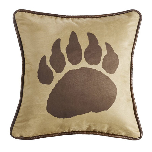 Rushmore Bear Claw Faux Suede Pillow