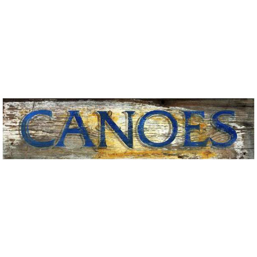 Rustic Canoes Sign