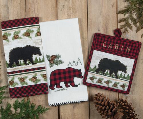 Bear Cabin Buffalo Check Kitchen Linens