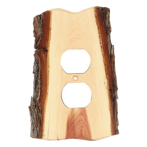 Rustic Juniper Wood Outlet Cover