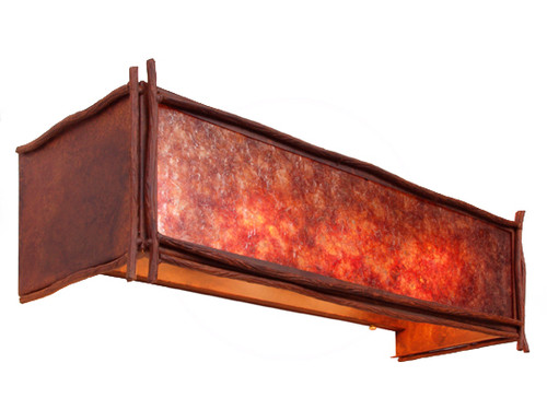 Rustic Twig Vanity Light Fixture (4 light) - Rust