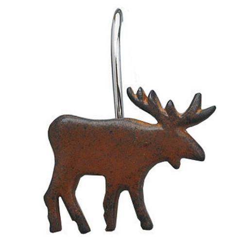 Rusty Moose Shower Curtain Hooks - Set of 12