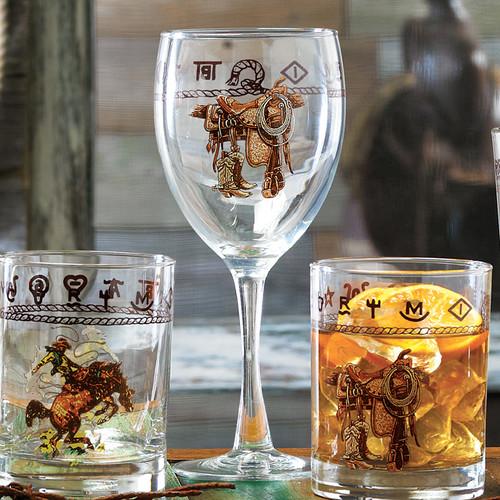 Saddle Wine Goblet (Set of 4) - BACKORDERED UNTIL - 01/15/2022