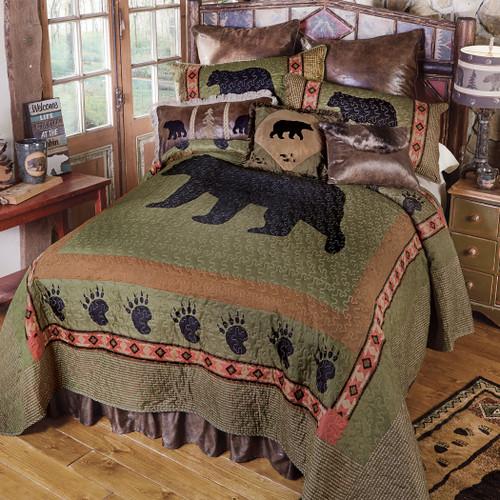 Sage CreekBear Quilt Bed Set - King