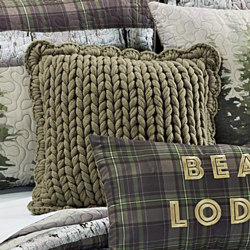 Sage Knit Pillow