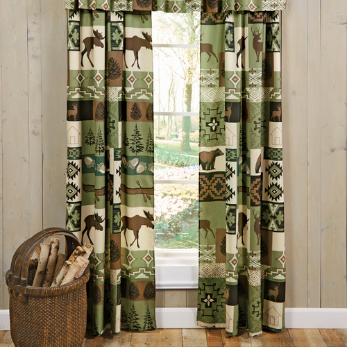 Sage Wilderness Lined Drapes