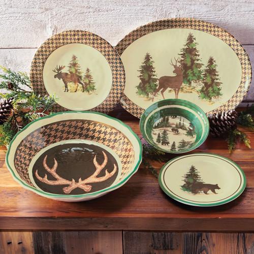 Aspen Heights Wildlife Melamine Dinnerware