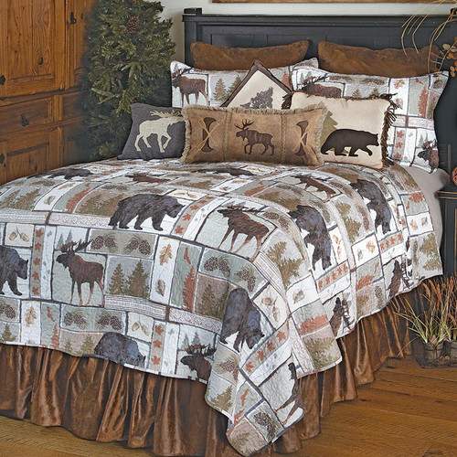 Bear & Moose Wilderness Quilt Bedding Collection