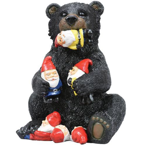 Garden Gnome Bear Sculpture