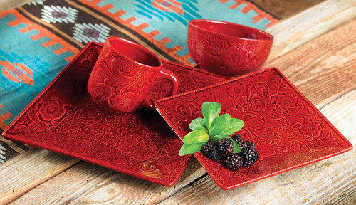 Savannah Red Dinnerware Set (16 pcs)