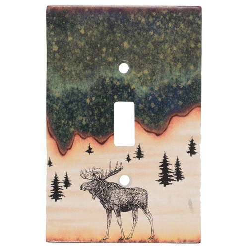 Forest Moose Switch Covers
