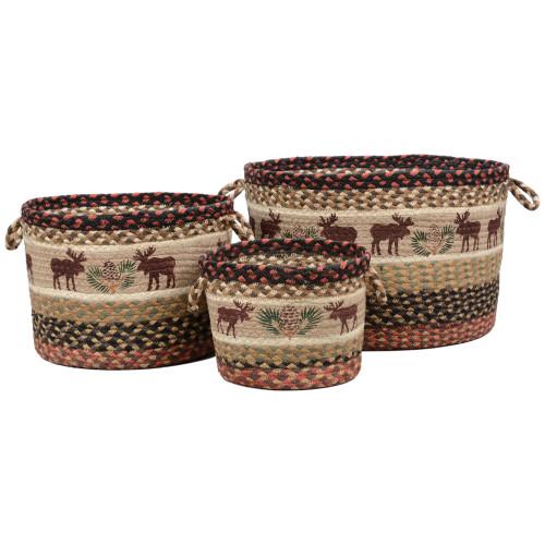 Moose & Pinecone Braided Utility Baskets