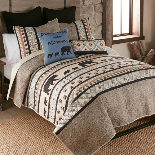 Bear Crossing Quilt Bedding Collection