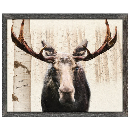 Personalized Aspen Moose Framed Art