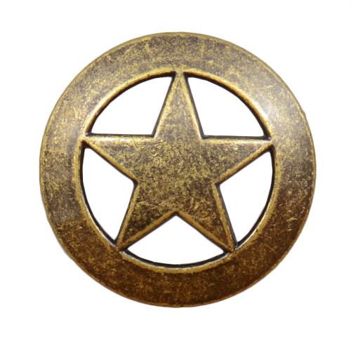 Sheriff Star Cabinet Knob