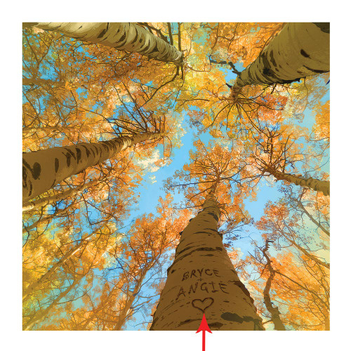 Personalized Aspen Sky Block Mount Prints